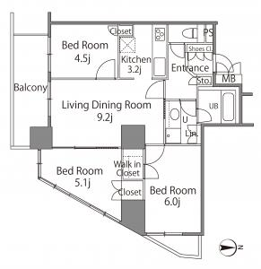 Castalia Tower Shinagawa Seaside Floor Plan