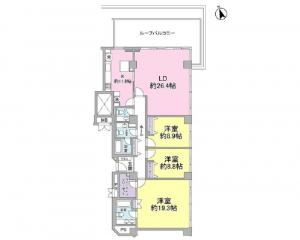 Azabu Manor East side 403 Floor Plan