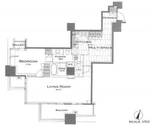Park Axis Aoyama 1-chome Tower 1005 Floor Plan