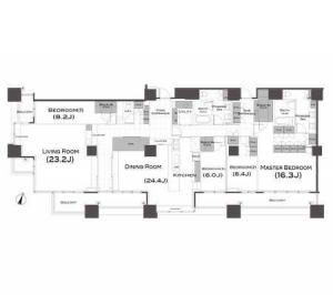Park Axis Aoyama 1-chome Tower 1503 Floor Plan