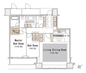 The Park Residences at The Ritz-Carlton Tokyo 1206 Floor Plan