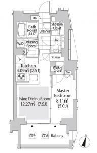 AXLE COURT SHIBUYA KAMIYAMACHO 405 Floor Plan