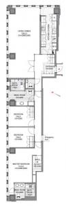 The Prudential Tower Residence 2610 Floor Plan