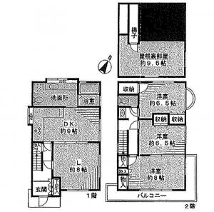 Yagumo 2-Chome House Floor Plan