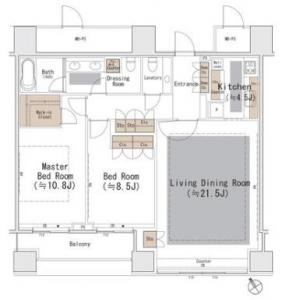 The Park Residences at The Ritz-Carlton Tokyo 1906 Floor Plan