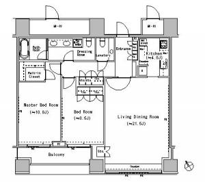 The Park Residences at The Ritz-Carlton Tokyo 1706 Floor Plan
