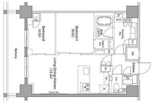 The Park Habio Ebisu Place 606 Floor Plan