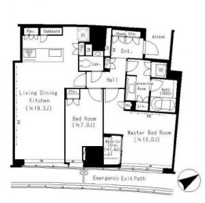 Park Court Aoyama The Tower 1607 Floor Plan