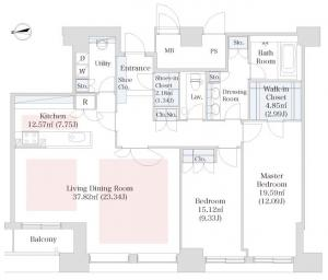 La Tour Shiodome 5405 Floor Plan