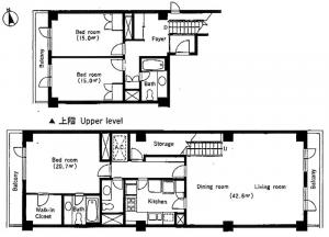 Azabu Terrace Apartment 422 Floor Plan