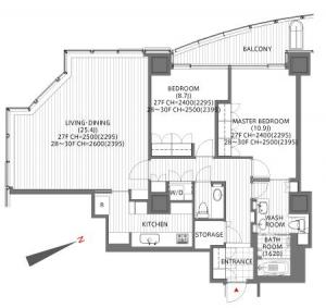 Atago Green Hills Forest Tower 2807 Floor Plan
