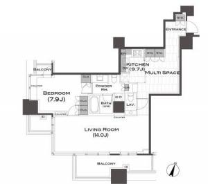 Park Axis Aoyama 1-chome Tower 1205 Floor Plan