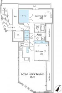 Hill Point Motoazabu 301 Floor Plan