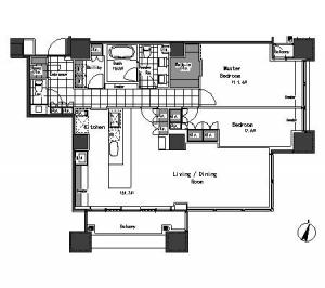 Park Axis Aoyama 1-chome Tower 3806 Floor Plan