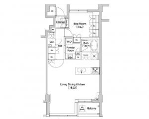 Daikanyama Bless 405 Floor Plan