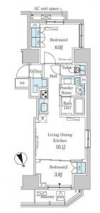 Park Axis Toranomon 903 Floor Plan