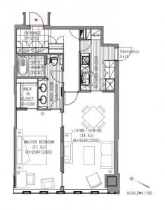 The Prudential Tower Residence F type Floor Plan