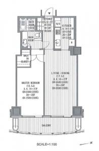 Atago Green Hills Forest Tower 2803 Floor Plan