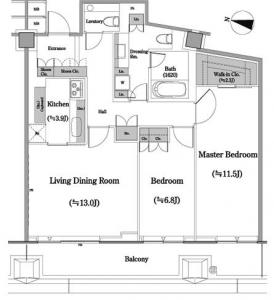 Nibancho Terrace 1207 Floor Plan