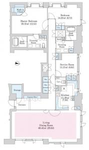 Aoyama Town House Anex 102 Floor Plan