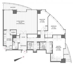 Atago Green Hills Forest Tower 3804 Floor Plan