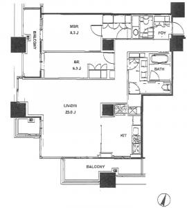 Park Axis Aoyama 1-chome Tower 1704 Floor Plan