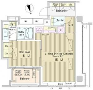 Park Axis Onarimon 1401 Floor Plan
