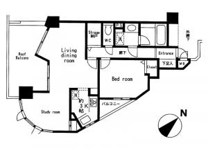Bell Meson Roppongi Towers 5F Floor Plan