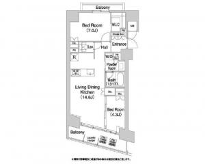 Comforia Shibaura Bow House 1306 Floor Plan