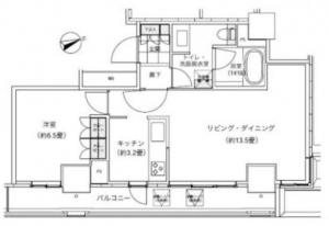 Park Cube Atagoyama Tower 2405 Floor Plan