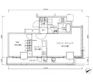 Park Cube Atagoyama Tower 1605 Floor Plan