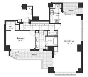 Apartments Tower Roppongi 1801 Floor Plan