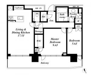 Park Court Akasaka Hinokicho The Tower 34F Floor Plan