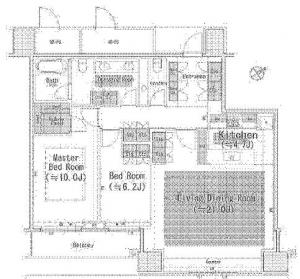 The Park Residences at The Ritz-Carlton Tokyo 304 Floor Plan