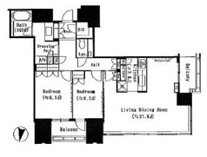 Akasaka Tower Residence Top of the Hill 3501 Floor Plan