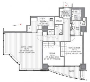 Atago Green Hills Forest Tower 2804 Floor Plan