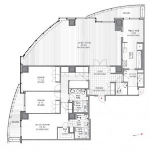 Atago Green Hills Forest Tower 3803 Floor Plan