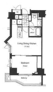 Apartments Tower Roppongi 204 Floor Plan