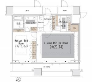 The Park Residences at The Ritz-Carlton Tokyo 1401 Floor Plan