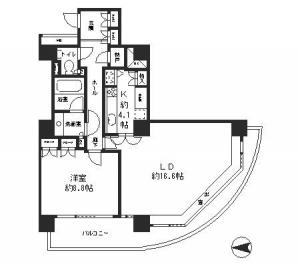 River Point Tower 2108 Floor Plan