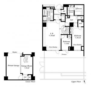 Branz Roppongi The Residence 1F Floor Plan