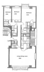 Bluff 100 3D Floor Plan