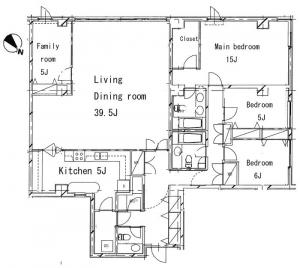 Castle Motoazabu 302 Floor Plan