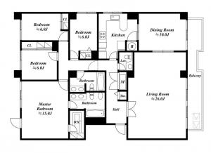 Nishiazabu Regency 201 Floor Plan