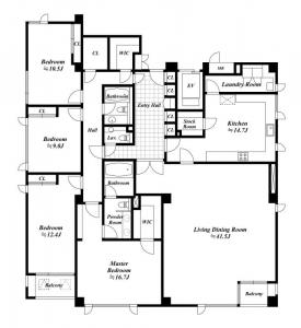 Park View Arisugawa 202 Floor Plan