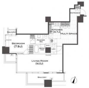 Park Axis Aoyama 1-chome Tower 1105 Floor Plan