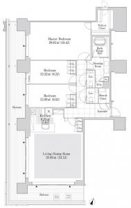 Roppongi Grand Tower Residence 2004 Floor Plan