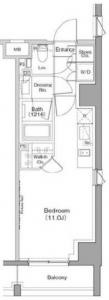 The Park Habio Ebisu Place 304 Floor Plan