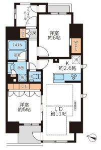 Grand Casa Honkomagome 1401 Floor Plan