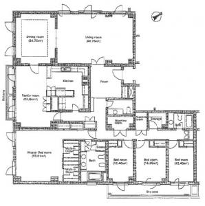 Motoazabu Terrace Apartment 101 Floor Plan